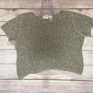 Liz Claiborne Thick Knit Short Sleeve Sweater Top